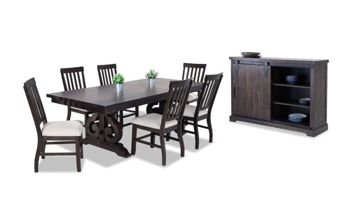 Sanctuary 8 Piece Dining Set with Slat Chairs & Server